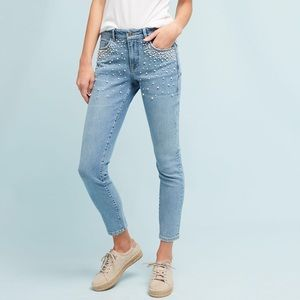 NWT Anthropologie Pilcro High Rise Pearl Jeans